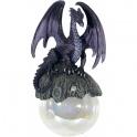 """Dragon sur sa boule à suspendre """"Hoarfrost"""""""