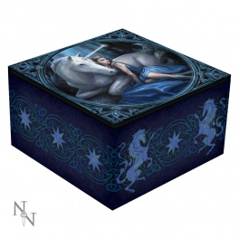 """Coffret à bijoux avec miroir """"Blue Moon"""" de Anne Stokes"""