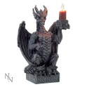 "Bougeoir dragon noir ""Light Keeper"""