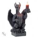 """Bougeoir dragon noir """"Light Keeper"""""""