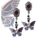 "Boucles d'oreilles Alchemy Gothic ""Death's-Head Butterfly"""