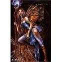 """Plaque murale en céramique """"Blue Flame"""""""