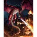 "Plaque murale ""Dragons Dessent"" de Tom Wood"